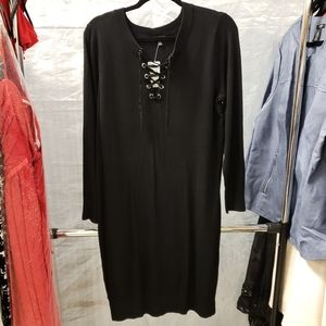 NWT Torrid sexy tie front blk sweater dress size 2